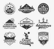 El sistema del desierto del vector se aventura el logotipo
