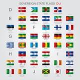 El sistema del estado soberano señala a DJ por medio de una bandera stock de ilustración