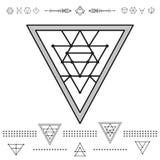 El sistema del inconformista geométrico forma 9zn72211 Fotos de archivo libres de regalías