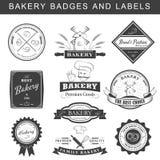 El sistema del logotipo retro de la panadería del vintage badges y las etiquetas Imagenes de archivo
