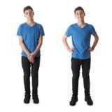 El sistema del muchacho lindo del adolescente sobre blanco aisló el fondo Fotografía de archivo libre de regalías
