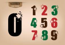 El sistema del número abstracto de estilo del logotipo con estalla Fotografía de archivo libre de regalías