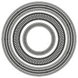El sistema del neumático blanco y negro sigue alrededor de marcos Fotografía de archivo