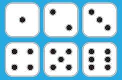 El sistema del plano cuadrado 6 corta en cuadritos libre illustration