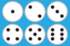 El sistema del plano de 6 círculos corta en cuadritos stock de ilustración
