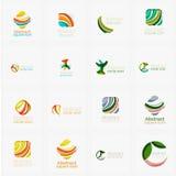 El sistema del remolino, onda alinea, los iconos del logotipo del círculo Fotografía de archivo libre de regalías