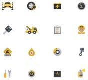 Sistema del icono del servicio del coche. Parte 1 stock de ilustración