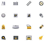 Sistema del icono del servicio del coche. Parte 2 stock de ilustración