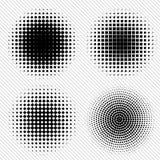 El sistema del tono medio abstracto negro circunda el logotipo, ejemplo del vector ilustración del vector