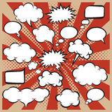 El sistema del vector de discurso cómico burbujea en estilo del estallido-arte libre illustration