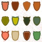 El sistema del vector de escudos Fotos de archivo libres de regalías