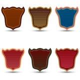 El sistema del vector de escudos coloreados Imágenes de archivo libres de regalías