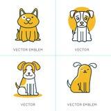 El sistema del vector de iconos y firma adentro estilo linear de moda Imagen de archivo libre de regalías