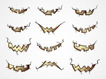 El sistema del vector de las calabazas de Halloween articula con diversas emociones Fotos de archivo