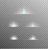 El sistema del vector de luz que brilla intensamente estalla con las chispas libre illustration