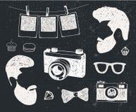 El sistema del vector de vintage diseñó la materia del inconformista del diseño Plantillas dibujadas mano del garabato para su di libre illustration
