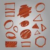 El sistema del vector hizo al marcador Imagen de archivo libre de regalías