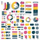 El sistema grande de las cartas de elementos infographic, diagramas, discurso burbujea libre illustration