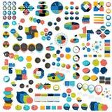 El sistema mega de las cartas de elementos infographic, gráficos, cartas del círculo, diagramas, discurso burbujea stock de ilustración