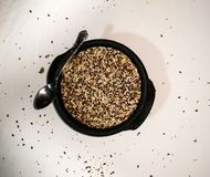 El sistema mezclado sano de las semillas fotografía de archivo