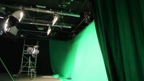 El sistema verde de la iluminación de la pantalla almacen de video