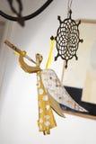 El sitio adorna con ángel del papel hecho a mano Imagen de archivo