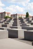El sitio conmemorativo del holocausto en Berlín Foto de archivo
