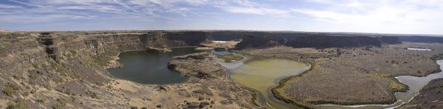 El sitio de la cascada antigua, lagos Sun seca el parque de estado de las caídas, Washi Foto de archivo libre de regalías