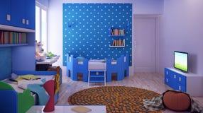 El sitio de niños, dormitorio Fotos de archivo