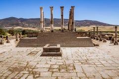 El sitio de Volubilis en Marruecos imagen de archivo
