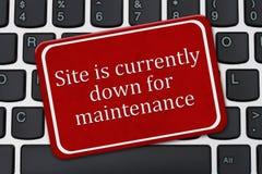 El sitio está actualmente abajo para la muestra del mantenimiento Fotos de archivo libres de regalías