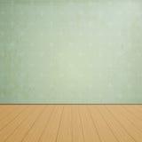 El sitio vacío con los pisos de madera y el vintage wallpaper Fotografía de archivo libre de regalías