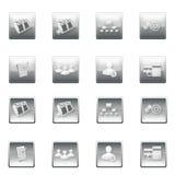El sitio web abotona la plantilla del menú Foto de archivo libre de regalías