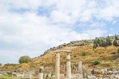 El sitio y las ruinas de Ephesus Fotos de archivo libres de regalías