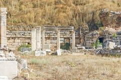 El sitio y las ruinas de Ephesus Imagen de archivo libre de regalías