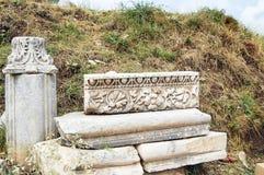 El sitio y las ruinas de Ephesus Imagen de archivo