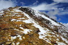 El skipiste más alto del mundo Foto de archivo libre de regalías
