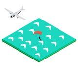 El Skydiver salta del aeroplano Libre Illustration