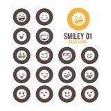 El smiley hace frente al icono Ilustración del vector Imagenes de archivo