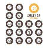 El smiley hace frente al icono Ilustración del vector Imagen de archivo