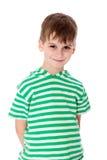 El smilling lindo del muchacho aislado Fotografía de archivo libre de regalías