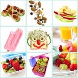 El Snacking sano para la colección de los niños Imágenes de archivo libres de regalías