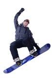 El Snowboarder salta imagen de archivo libre de regalías