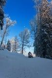 El Snowmobiling Imagenes de archivo