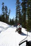 El Snowmobiling Imagen de archivo libre de regalías