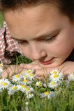 El soñar despierto con las margaritas Imagen de archivo libre de regalías