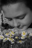 El soñar despierto en blanco y negro Imagen de archivo
