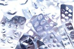 El sobre de píldoras utilizó Imagen de archivo