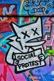 ¡El ` social de la protesta del ` nunca parecía tan adorable! Foto de archivo