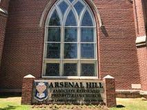 El socio de la colina del arsenal reformó la iglesia presbiteriana situada en Columbia, SC Imágenes de archivo libres de regalías